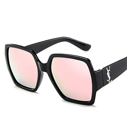 CCGSDJ Übergroße Quadratische Sonnenbrille Frauen Luxury Schwarz Rosa Sonnenbrille Weibliche Vintage Shades Eyewear