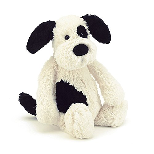 Image of Bashful Black and Cream Puppy Dog Soft Toy - 31cm - by Jellycat