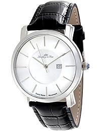 Lindberg & Sons LSSM80 - Reloj para hombre de cuarzo con correa de cuero color negro