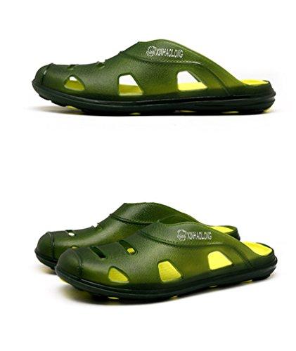 Sentao Hommes Slip-On Pantoufle Loisir Confortable Plage Chaussures Sandales Respirantes style 2