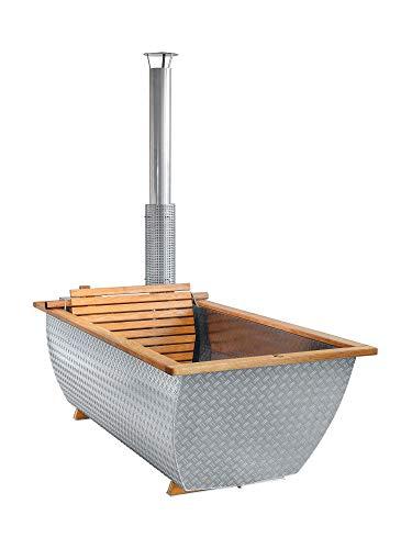 Hikki - Bohemen - Der schwedische Holz-Whirlpool aus Aluminium und Eiche. Perfekt für Ihre Glampingstelle