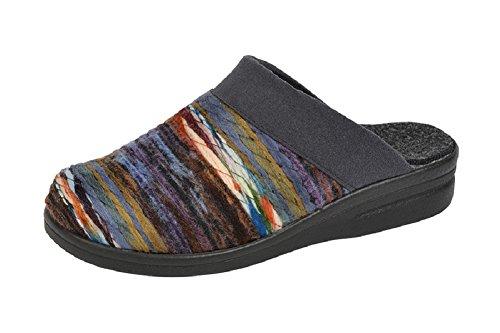 Pantofole–pantofole con suola cuneo di PU Multicolore