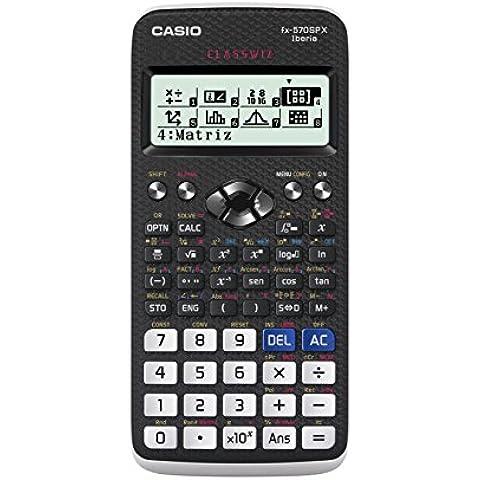 CASIO FX-570SPX - Calculadora científica (575 funciones, 12 dígitos), color negro y blanco