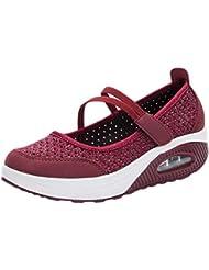 73a31ed904 Zapatillas para Mujer Deportivo Verano Plataforma Cuña Merceditas 2018 Moda  PAOLIAN Zapatos Casual Talla Grande Señora