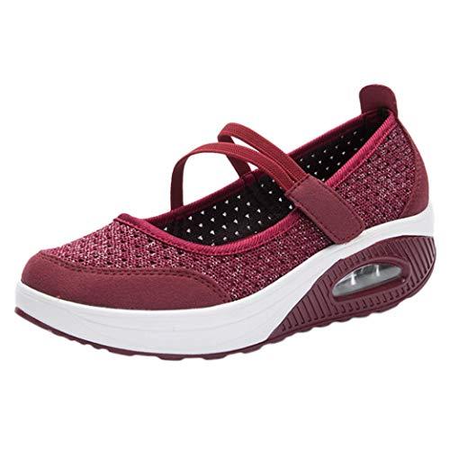 Zapatillas para Mujer Deportivo Verano Plataforma Cuña...