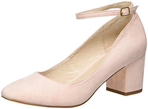 Buffalo Shoes Damen 15P54-1 IMI Suede Pumps, Rot (Rose 36), 40 EU