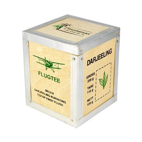 Bio Flugtee Darjeeling Kurseong FF TGFOP 1 in der handgefertigten Holzkiste