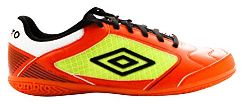 Umbro Sala Liga Ic Ad, Chaussures de Football Amricain Homme Grenadine / Negro / Lime Green / Blanco