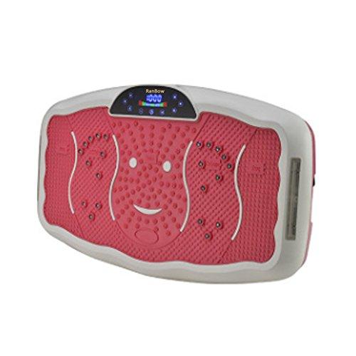 RanBow Ganzkörper-Vibrationsmaschine - Trainingsgeräte für Home - Fitness Vibrationsplattform mit Bluetooth Musik, leicht zu verlieren (rosa)