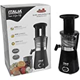 ITALIA ISJ-2727 350 Watts Slow Juice Extractor Cold Press Healthy (White And Black)