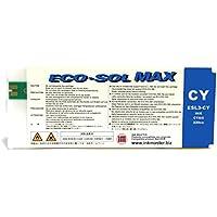 INK MASTER Cartucho compatible ROLAND ECO-SOL MAX CYAN para Roland BN-20 RS-540 RS-640 SJ-645EX SJ-745EX SJ-1045IS SP-300i SP-300V SP-540i SP-540V VP-540i VP-300i XC-540 XJ-640 XJ-740