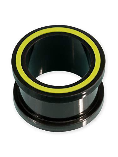 Fly Style Flesh-Tunnel Silikon Hollow Eye in 8 Farben, Grösse:12 mm, Farbwahl:gelb