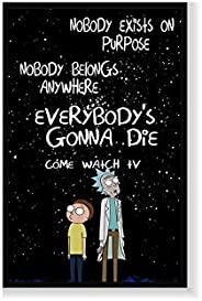 Rick and Morty wall art Painting with frame, Print Canvas Poster Decorative Painting Living Room Home Decorati