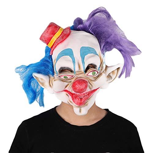 QNFNB Unheimlich Clown Maske Personalisiert Halloween Kostüm Party Requisiten Latex-Zubehör (Kostüm Clown Unheimlich)