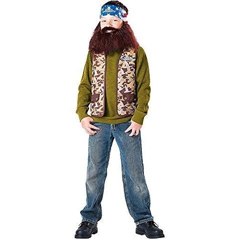 Dynastie De Duck Duck Costume - Duck Dynasty: Willie Kids Costume - 12-16