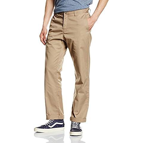 Volcom Frickin-Pantaloni Chino da uomo Beige cachi Taglia