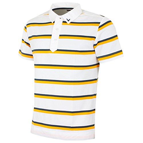 Callaway Bold Stripe Herren Poloshirt 2015, rot Bright White