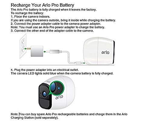 41DRQgVsrOL [Bon Arlo !  Arlo Pro - Smart Caméra de Surveillance, Paquet de 1, 720p, Jour/Nuit, Grand Angle 100% Sans Fils - VMS4130-100EUS