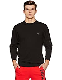 Calvin Klein Performance Logo Waistband Hem Regular Fit Long Sleeve Pullover