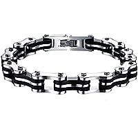 Zamak Herren Titan magnetisch Gesundheit Armband in Schwarz Samt Leder-Geschenk-Box + Demontagewerkzeug preisvergleich bei billige-tabletten.eu