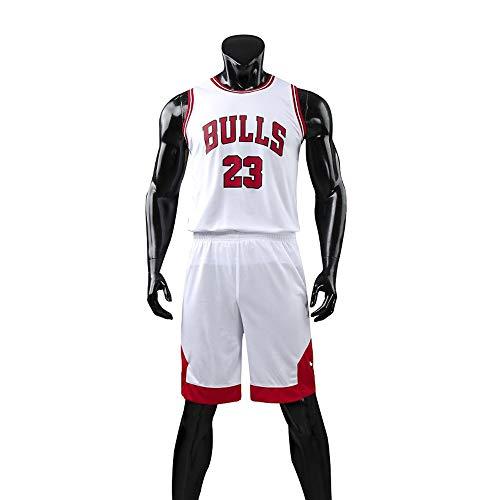 Hanbao Männer- und Unisex-Basketball-T-Shirt - Sommer-Basketballuniform NBA Michael Jordan # 23 Chicago Bulls Fan Edition #Jersey - Klassisches ärmelloses Top und Kurze L-5XL