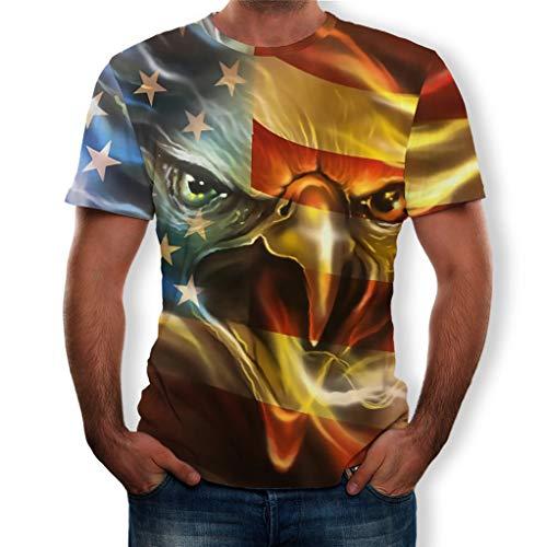 Men's Clothing New Hoodie Printed Fireworks American Flag Eagle Head Hooded Sweatshirt Mens Casual Long Sleeve Hooded Hoodie Unisex Jacket High Resilience