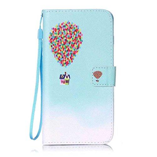 Coloré Motif PU Cuir portefeuille Housse Etui pour iPhone 7 Plus (5,5 pouces) Case Coque Protection Flip Cover avec carte de crédit Slots (Y05#) Y16#