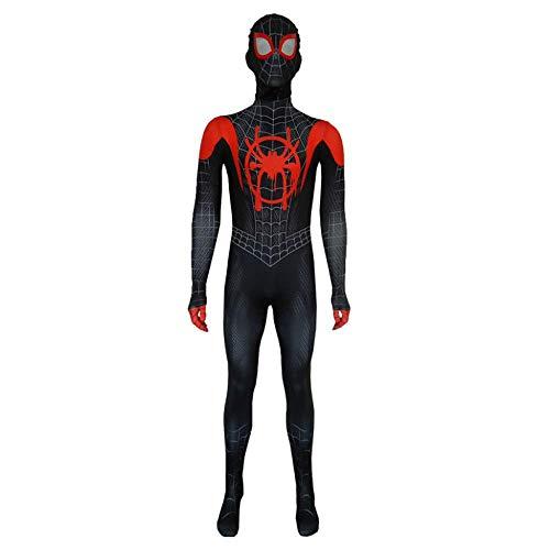 Fancy Dress Spinne Eine Macht Kostüm - YU Spiderman kostüm Cosplay Kind Erwachsene kleine Schwarze spinne Anime siamesische Strumpfhose Fancy Dress Party spielt kostüm,Schwarz,AdultL