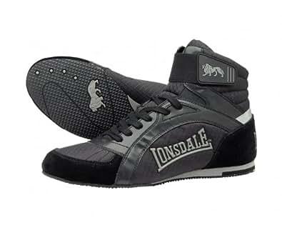 LONSDALE Swift Chaussures de Boxe pour Adulte, Noir, 43