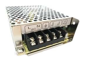 Alimentatore trasformatore stabilizzato contro sovracarichi, corto circuiti,sovratemperature 10A DC 12V AC 180/240V per striscia bobina LED con switch e trimmer