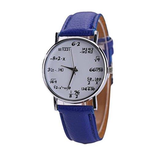 baonoop neuen Berechnungen Mathematik Beliebte Mode Frauen Kleid zeigt Leder Band Uhren Leder Quarz Armbanduhr