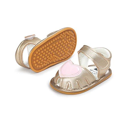 Igemy 1Paar Baby Mädchen Sandalen Casual Sneaker Anti-Rutsch Soft Sole Kleinkind Schuhe Gold