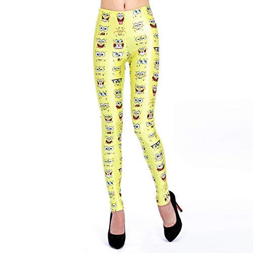 hwammkopf Druck Legging und Amerika Mode Dame Bleistift Hose Mode atmungsaktiv Yogahosen schnell trocken einfach und bequem ()