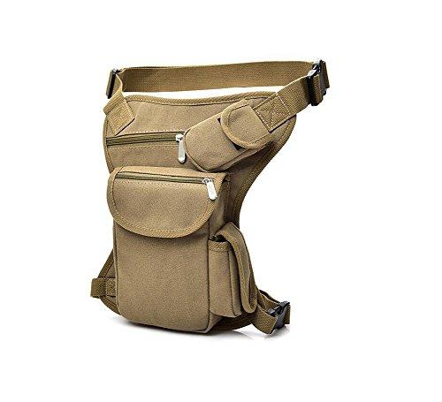 SYSI Herren Beintasche Reiten Tragetasche Taille Hüfttasche Bein Hip gürteltasche,Sport Taktische Airsoft Militär (Beige)