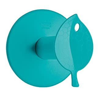 Koziol 5236619 Sense WC-Rollenhalter, Thermoplastischer Bio-Kunststoff, Türkis, 13 x 12.7 x 12.7 cm