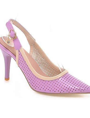 WSS 2016 Chaussures Femme-Mariage / Habillé-Rose / Violet / Blanc-Talon Aiguille-Talons / Bout Pointu-Talons-Similicuir white-us10.5 / eu42 / uk8.5 / cn43