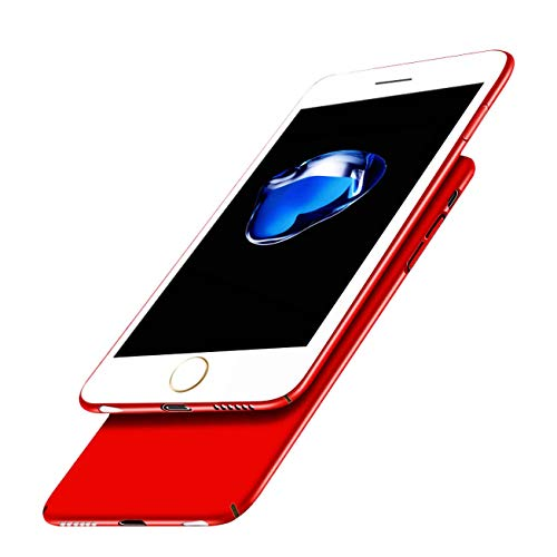Price comparison product image iBarbe Ultra Thin Slim Cover for Phone 8 / 7,  Anti Scratch Case Durable Light Slim Fit Hard Shell Solid PC Back Cover Protective Case for iPhone 7 / iPhone 8 (Red)