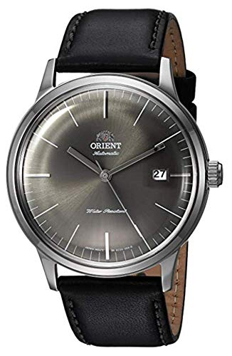 Orient Men's 2nd Generation Bambino 40.5mm Black Leather Band Steel Case Automatic Analog Watch FAC0000CA0
