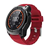 OOLIFENG Reloj Inteligente, Corriendo Relojes con GPS, Pulsómetros, Brújula, Deportes Podómetro para iOS Android,Red
