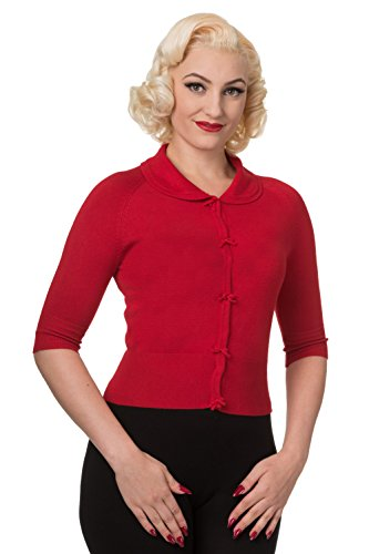 Dancing Days by Banned Strickjacke APRIL SHORTSLEEVE CARDIGAN 3095 Rot L