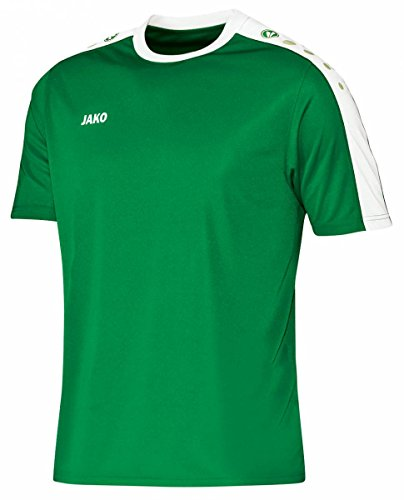 JAKO Kinder Trikot Striker KA, mehrfarbig(sportgrün/weiß), 128(Herstellergröße:M)