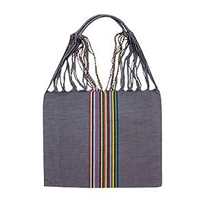 Einkaufstasche Boho Palmira 'grau'; Handgewebt, Handtasche, HANDARBEIT, Tasche, Geschenkidee für Frauen