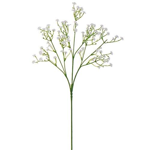 50/100 Stück Real Touch Gypsophila Künstliche Blumen Blumensträuße Startseite Hochzeit Braut Decor (Weiß-5Stück)