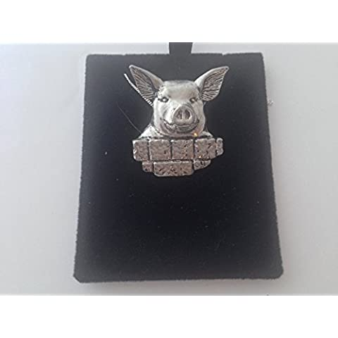 A33 Pig-Pendente in argento sterling 925, lunghezza 40,64 cm (16