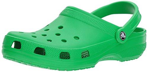 Crocs, classic 1001, sabot, unisex adulto, verde (grass green), 41/42 eu