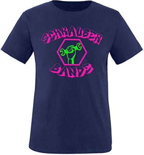 EZYshirt® Schrauber Bande Herren Rundhals T-Shirt Navy/Pink/Neongr