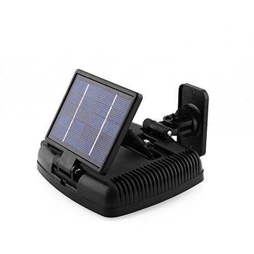 amzdeal 30 LED Solarleuchte Wandleuchte Solar Lampe mit Bewegungsmelder für Außen Garten Garage IP44 Wasserdricht Kaltweiß Schwarz - 3