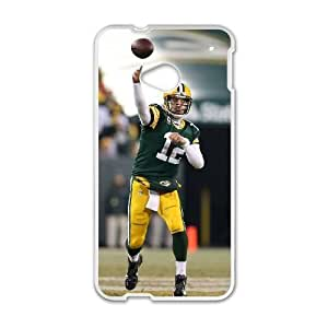 HTC One M7 phone case White Aaron Rodgers PPOI8966471