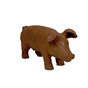41DRbbqDR0L. SS300  - Four Seasons- Outdoor Garden Pig Cast Iron Freestanding Piglet in a Rust Distressed finish