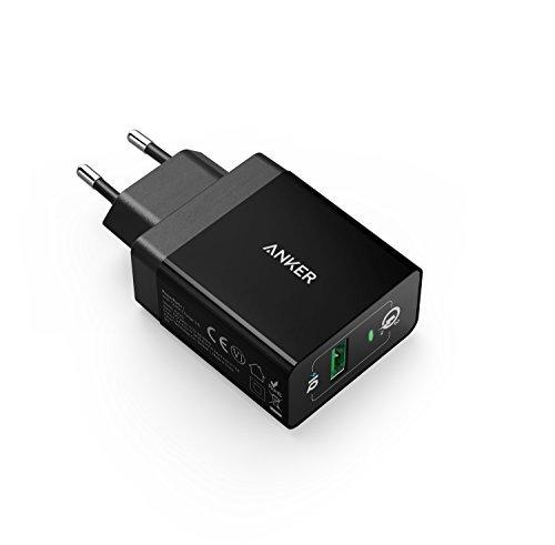 Anker PowerPort+1 18W USB Ladegerät mit Quick Charge 3.0 und Power IQ für Galaxy S7/S6/Edge/Plus, Note 5/4, LG G4, HTC One A9/M9, Nexus 6, iPhone, iPad und Viele Mehr (in Schwarz)